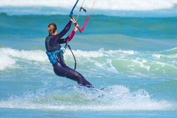 Kite surfer at Bloubergstrand, Cape Town