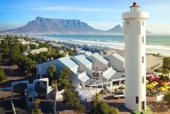 The lighthouse at Woodbridge Island, Milnerton, Cape Town.